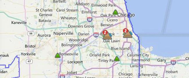 Current Outages ComEd An Exelon Company - Internet outage map of the us