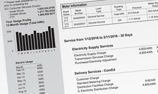 Comed utility bill comedbill psdfully editable all layers https.