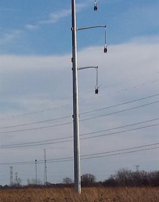 línea de postes