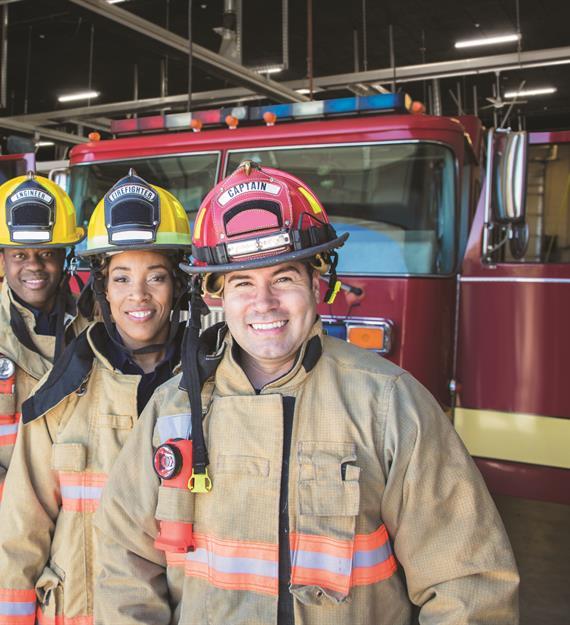 A group of firemen