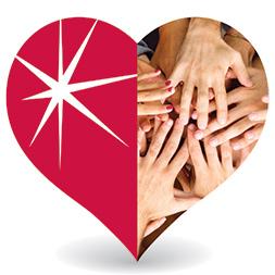 Logotipo de corazón de ComEd Cares