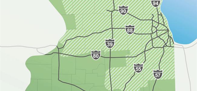 Mapa del territorio de ComEd